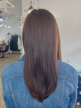 リマイル(remile)の写真/【オーガニック白髪染め】髪や頭皮への負担を抑える薬剤で肌に優しく、理想のカラーを叶える♪