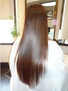 ヘアーサロン ノルテ(Hair Salon NORTE)の写真/持続力が人気の理由!ずっとツルツル…ずっとサラサラ!手触り・負担すべてが違うとっておきの縮毛矯正です
