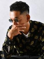 サンディーズ バーバーショップ(SUNDYS BARBERSHOP)トラッドツーブロック黒髪アップバンググランジアイロンパーマ