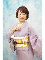 【お着物レンタル】小江戸川越お散歩シースルー編み込みアレンジ
