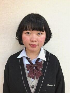 ヘアデザイン ラポール 茨木店(hair design Rapport)黒髪ナチュラル&カジュアルショート艶ボブ☆