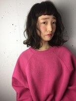 クリアーオブヘアー 栄南店(CLEAR of hair)【CLEAR】ワイドバングが可愛いミディアムボブ