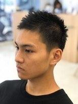 黒髪×ソフトモヒカン