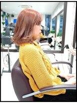 Wカラー1stブリーチ・2nd姉アゲハの専属モデル小原優花の髪色