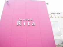 ラプトヘア リタ(Rapt. Hair Rita)の雰囲気(原信シビックコア店近く☆大きなピンクの看板が目印♪)