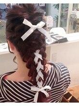 ヘアメイクサロン ビュートピア(hairmake salon Beautopia)リボンヘアセット