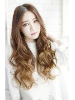 美髪デジタルパーマ/バレイヤージュノーブル/クラシカルロブ/615