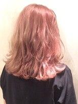 ブロック(bloc)ピンクアッシュオレンジ・デザインカラー