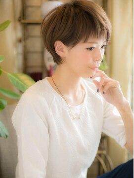 カバーヘアアンドスパブリス 浦和店(COVER HAIR & SPA bliss)*+COVER HAIR+*…潤いカラー☆で゛シンプルショート゛a!