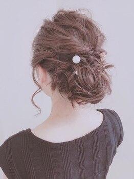 アナザヘアー なんば 高島屋前店(ANAZA hair)の写真/【難波駅1分☆朝9時~23時まで】周りと差がつく『華やかでオシャレなヘアセット』♪前髪カットも一緒にOK◎