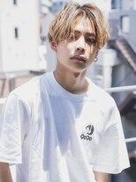 【aRietta】韓国風 センターパート ハイライト