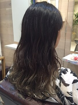 オーブ ヘアー ルル 京都四条通り店(AUBE HAIR lulu)グラデーション×ルーズウェーブ