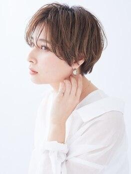 """カイノ イオンモール草津店(KAINO)の写真/厳しい基準をクリアしたスタイリストによる""""計算されたカット技術""""で再現性の高い褒められヘアに―。"""