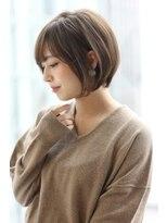 【Ramie 新谷千絢】大人カジュアルな耳かけ丸みショートボブ