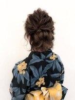 ヘアメイク シュシュ(Hair make chou chou)夏の浴衣ボブのハーフアップスタイル【chou-chou 北林夏実】