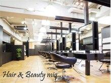 ミックヘアアンドメイクアップ 王子店(miq Hair&Make up)の雰囲気(広く明るい店内でリラックスした時間を過ごしてください【王子】)