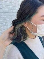 カッツ 東尾道店(CUT S)beige × emerald inner color