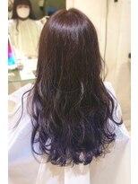 リリー ヘアーデザイン(Lilly hair design)バイオレット×裾カラー