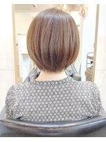 ◎モテ髪 ホワイトアッシュ 小顔ショートヘアボブ30代40代渋谷