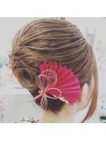 ヘアーアンドメイクサロン ハナココ(hair&make salon hana Coco)お祭りすじアップ 神輿スタイル 祭り お囃子 浴衣 着物 水戸