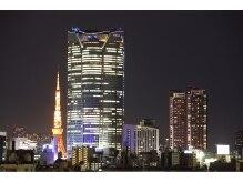 スパイスヘア 青山店(SPICE HAIR)の雰囲気(夜は、六本木ヒルズと東京タワーが見えますよ!)