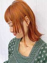 アルバム シンジュク(ALBUM SHINJUKU)オレンジミディ_オリーブカラーハイライトカラー_ba307282