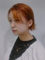 ゴッサムヘアー(Gotham Hair)オレンジカラーボブ