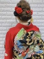 大人かわいい/着物ヘア 成人式 卒業式 振袖 袴ヘアセット