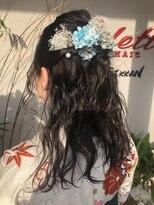 コレットヘア(Colette hair)ハーフアップアレンジ