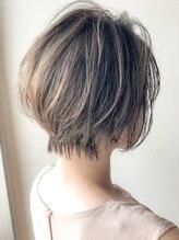 アグヘアー テイスター 保谷店(Agu hair taster)《Agu hair》大人かわいいハイライトショート 小顔ボブ