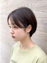 オーブ ヘアー アムール 学芸大学店(AUBE HAIR amour)【AUBE HAIR】耳かけふんわりショート_スモーキダークブラウン
