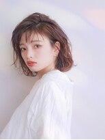 ムーン(moon)艶髪☆ラフな抜け感可愛い☆小顔ミディボブ【moon 武蔵小杉】