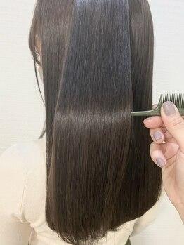 シュガーミー 仙台青葉区(Sugar mee)の写真/髪質改善縮毛矯正を導入!毛先まで指通り滑らかな質感に何度でも触りたくなる♪クセ毛のお悩みも解消◎