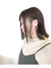 モグヘアー(mog hair)インナーカラー