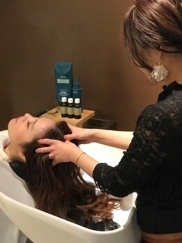 アヴェダ ライフスタイル サロンアンドスパ 南青山の写真/[AVEDA直営店]頭皮カメラを使用した頭皮診断&ライフスタイルに合わせた「ホリスティック」なアプローチを。