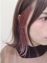 インナーカラー×ピンクオレンジ