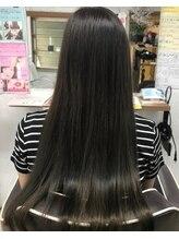 アスパイア(ASPIRE)髪質改善♪ダークブラウン/大人かわいい/シンプルストレート