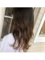 アンカーウェリナ(ANCHOR welina)柔らかい透明感カラーと無造作カールでモテ髪