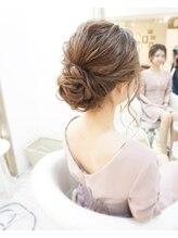 ヘアアンドメイクジップ恵比寿 (Hair&Make ZIP)王道アップスタイル