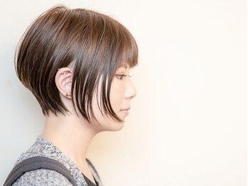 ルーシー ヘアデザインワークス(Lucy Hair Design Works)の写真/【四ツ橋駅2分】人気を誇る秘訣◇360度どこから見ても綺麗な女性らしいシルエットになれるハイセンスCUT♪