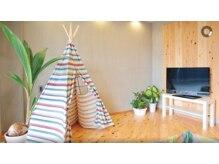 グロウ ヘアデザイン(Grow HAIR DESIGN)の雰囲気(広々としたキッズルーム完備☆かわいいテントがお気に入り♪)
