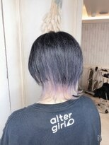 ブルーブラック×インナーホワイト