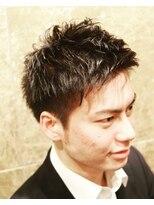 バルビエ グラン 銀座(barbier GRAND)ひし形シルエットの2ブロックショート <理容室>