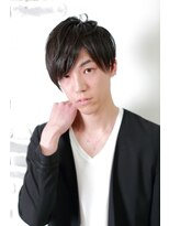 アルファ インタラクティブ エム フラワー(ALUFA interactive.M Flower)☆黒髪サイドパートマッシュ☆