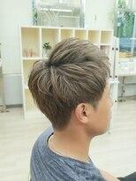 ハーフバックス 多摩境店(HAIR STUDIO HALF BACKS×1/2)メンズハイトーンツーブロック