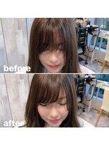 アフロート ワールド 渋谷(AFLOAT WORLD)【AFLOAT】《守道》前髪・顔周りチェンジ!BeforeAfter