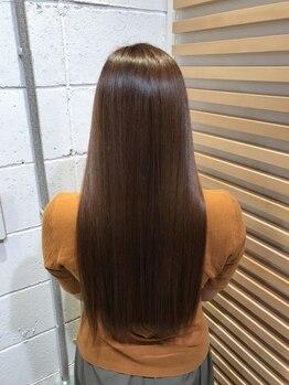 マルクヘアケア(MALQ HAIR CARE)の写真/クセやうねりでパーマや縮毛矯正をしている方へ。《髪質改善》でも自然のストレートへ導きます☆【福井】