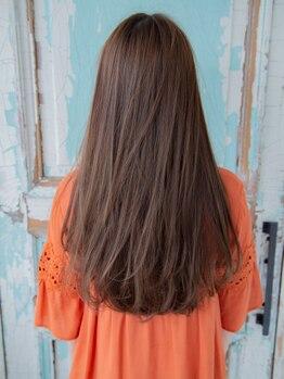 クオーレ ヘア アンジュ 水戸店(CUORE HAIR ange)の写真/話題のファイバープレックス縮毛矯正導入!枝毛切れ毛を大幅カット!毛先まで指通りなめらか♪【水戸】