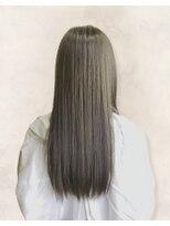 アッシュ ヘアーメイク 桐生(ash hair×make)20代30代40代/透明感/グレージュ/大人かわいい/艶感ストレート