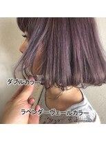アッシュタカサキ(ash takasaki)可愛さUP◎パープルピンクアッシュダブルカラー☆ふわりボブ